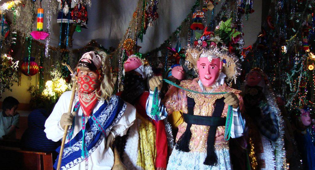 Pastorela Dances in Michoacán Curpites masks Angahuan