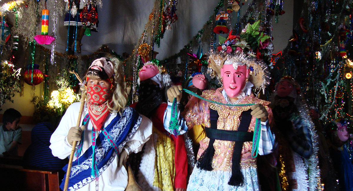 Pastorela Dances in Michoacán Curpites masks Angahuan