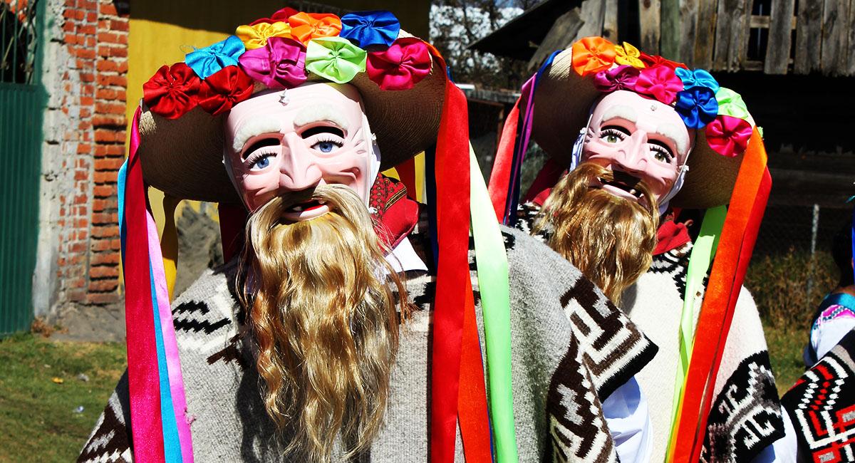 Pastorela Dances in Michoacán Viejo Mask Corupo