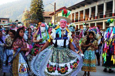 Pastorela Dances in Michoacán Maringuia Mask San Lorenzo