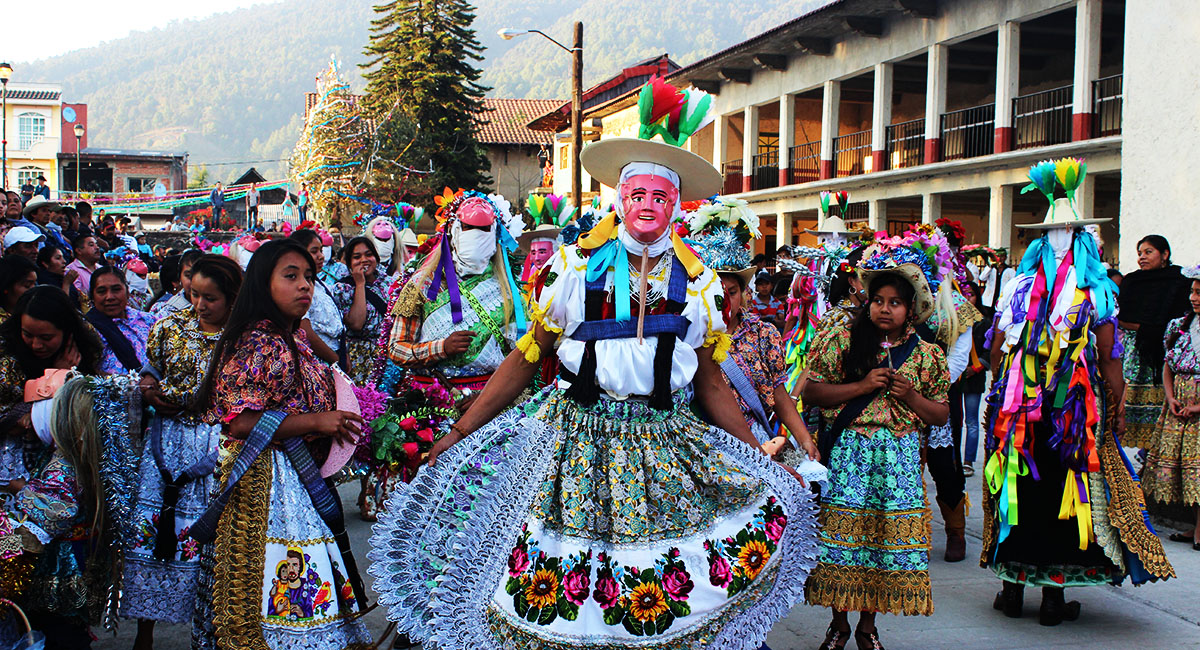 Pastorela Dances in Michoacán Maringuia Mask San Lorenzo