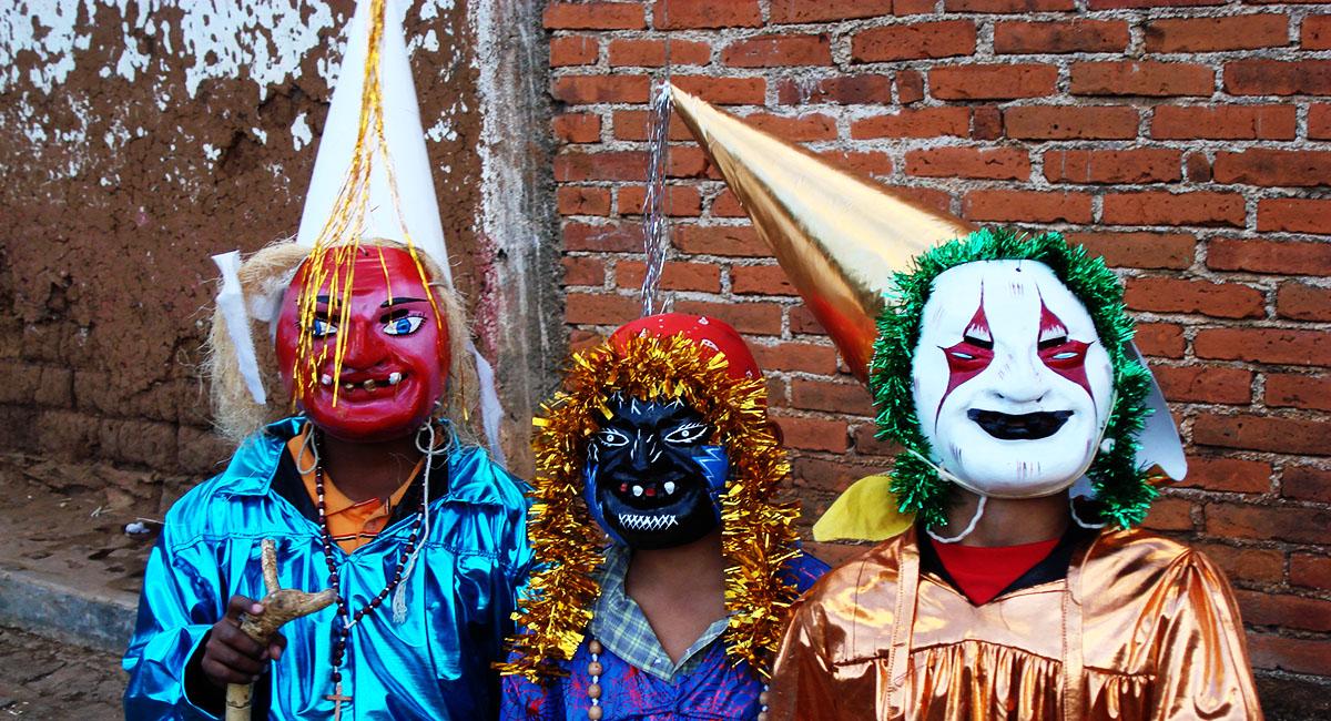 Pastorela Dances in Michoacán Ermitaños Mask Santa Fe de la Laguna Michoacan