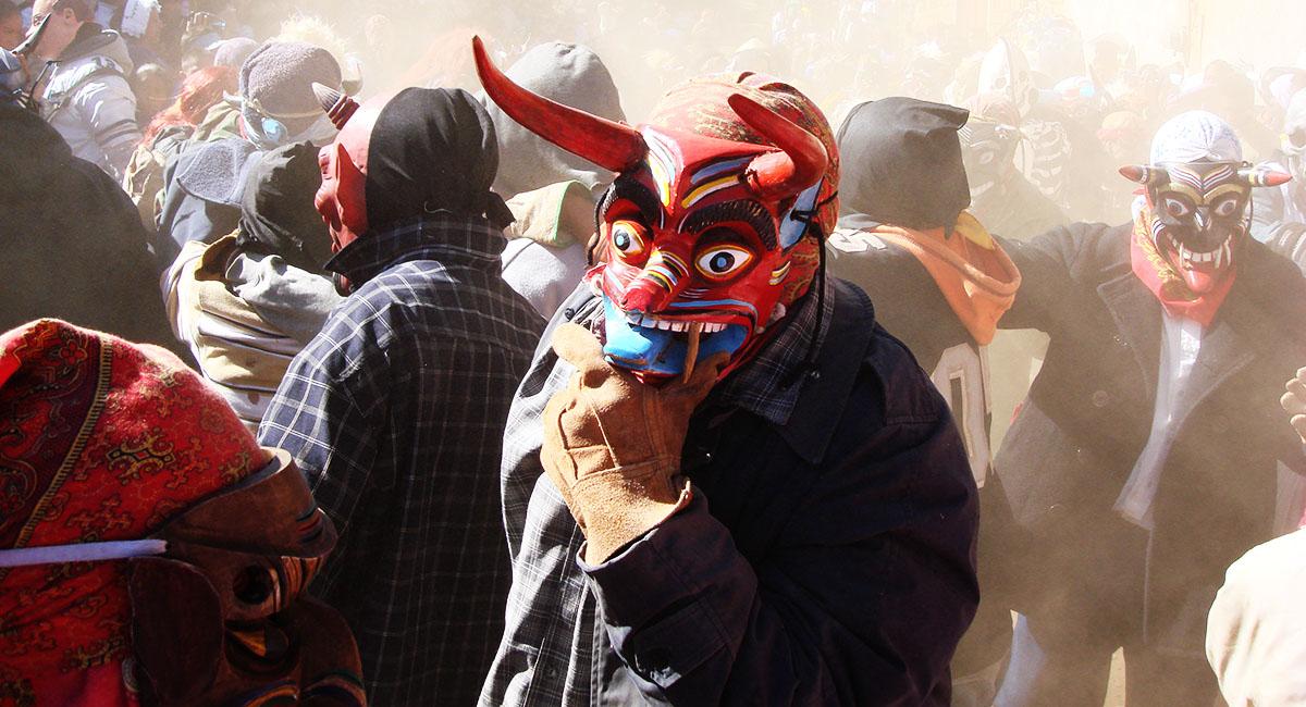 Pastorela Dances in Michoacán Diablo Devil Mask Santa Maria Huiramangaro