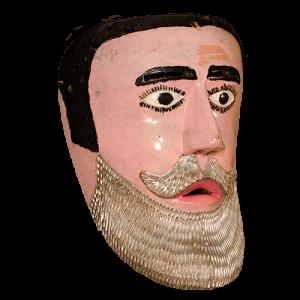 Máscara de Pilato o Señor Judío, Carnaval, Puebla México