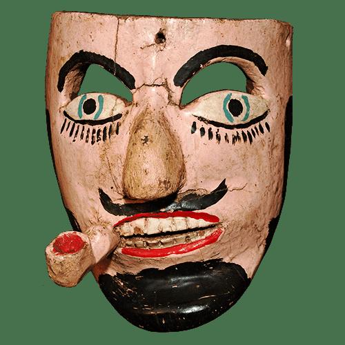 Máscara de Juan Tirador, Los Tlacololeros, Guerrero México