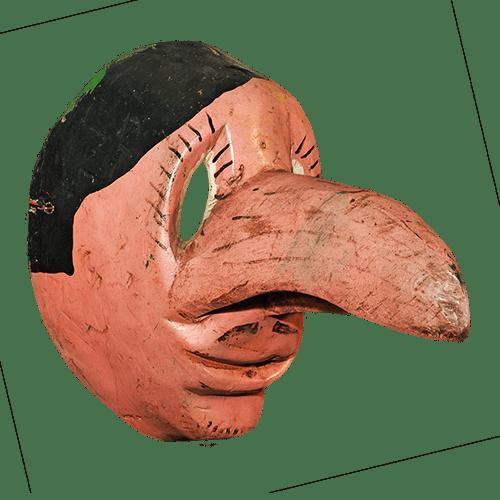 Máscara de Viejo Lucas, Danza del Tecuán, Puebla México